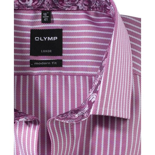 OLYMP Luxor modern fit karcsúsított fukszia hosszú ujjú ing