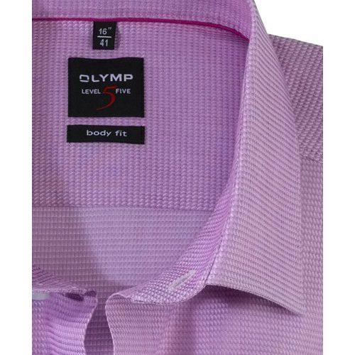 OLYMP Level Five body fit duplán karcsúsított fukszia hosszú ujjú ing