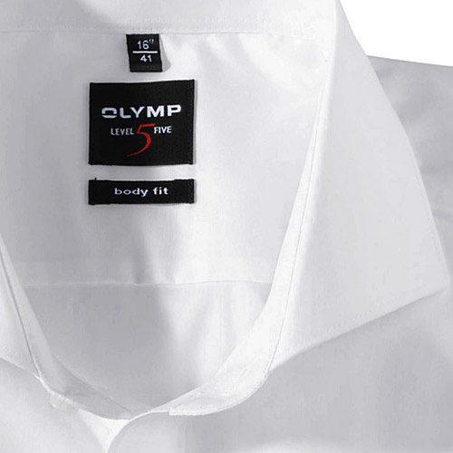 OLYMP Level Five body fit duplán karcsúsított fehér hosszú ujjú ing