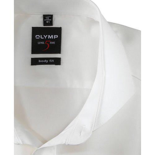 OLYMP Level Five body fit duplán karcsúsított ekrü hosszú ujjú ing