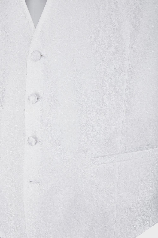 WILVORST fehér esküvői mellény mintázat 407207-90