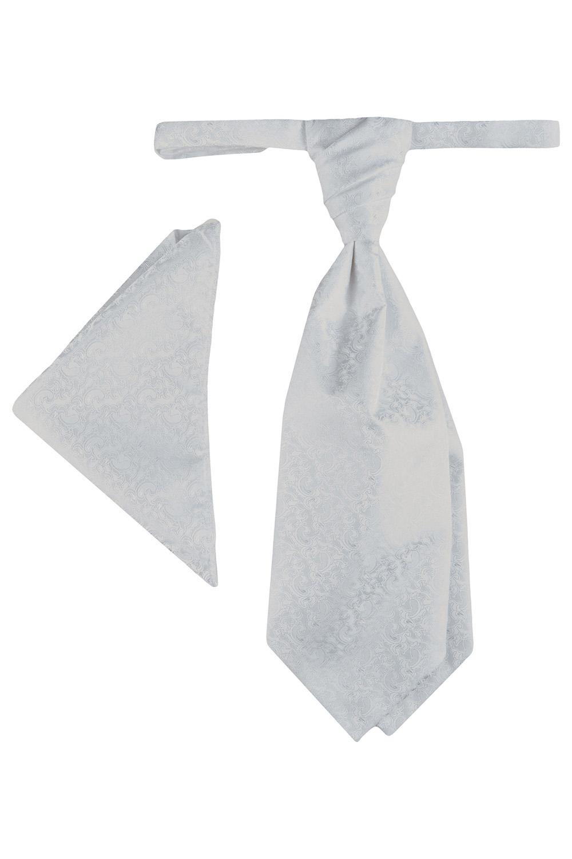 WILVORST fehér francia nyakkendő és díszzsebkendő 407207-90 0612