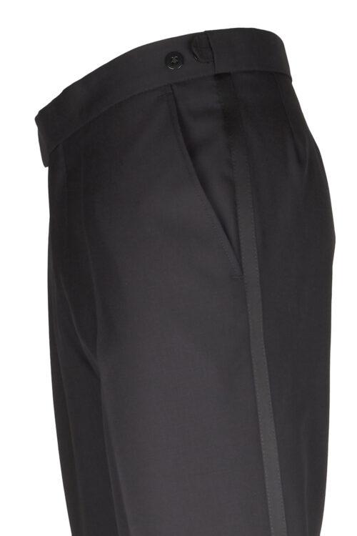 WILVORST fekete szmoking nadrág lampasz 401214-1 Modell 639