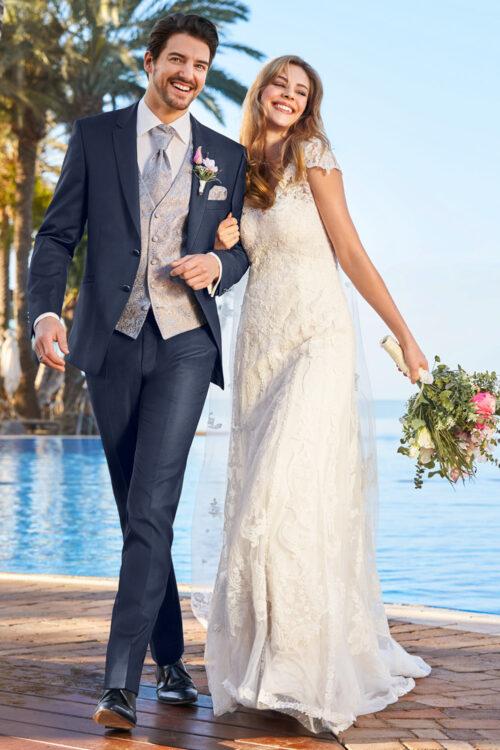 WILVORST sötétkék esküvői öltöny 491100-34