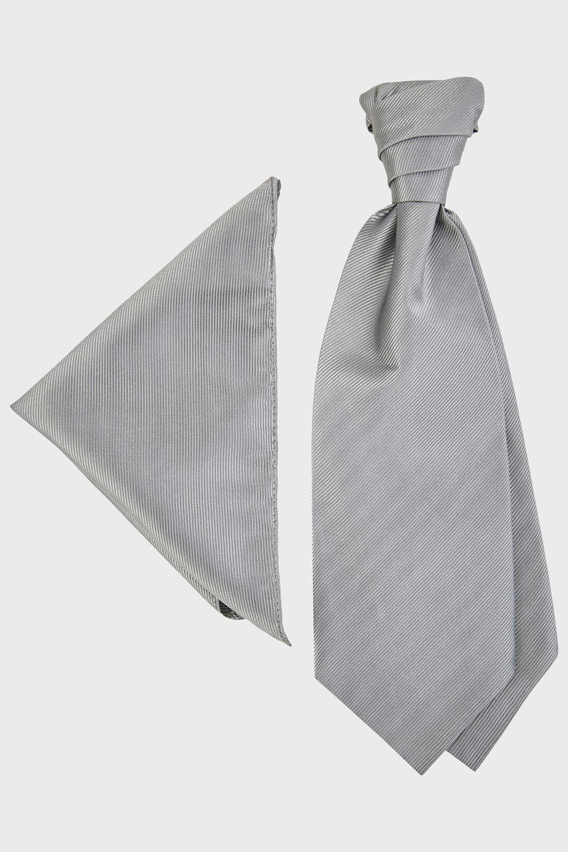 WILVORST szürke francia nyakkendő és díszzsebkendő 470107-1 0612
