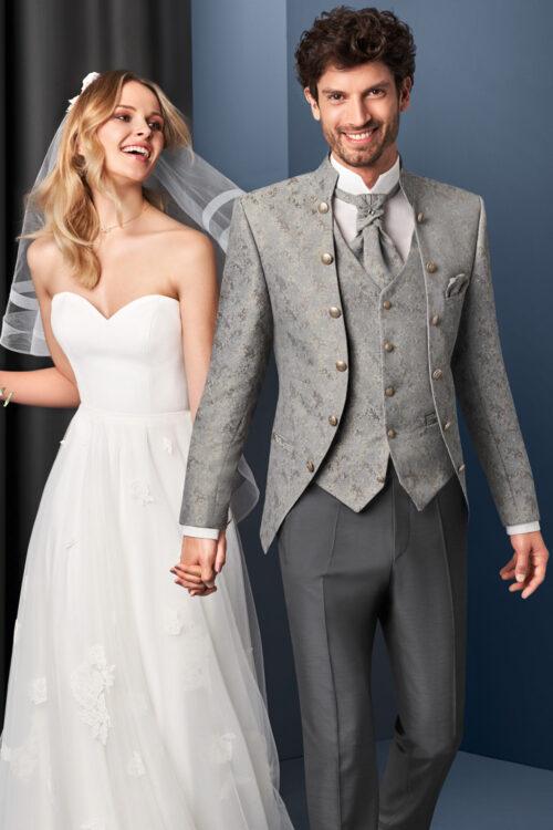 TZIACCO szürke mintás öltöny esküvőre 501113-27
