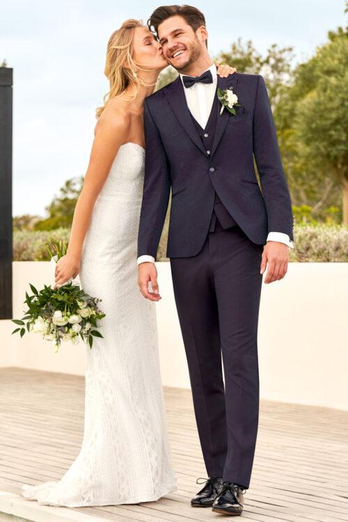 WILVORST bíbor esküvői öltöny 491207-53