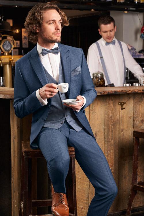 WILVORST borókakék esküvői férfi öltöny Art. 401106/34