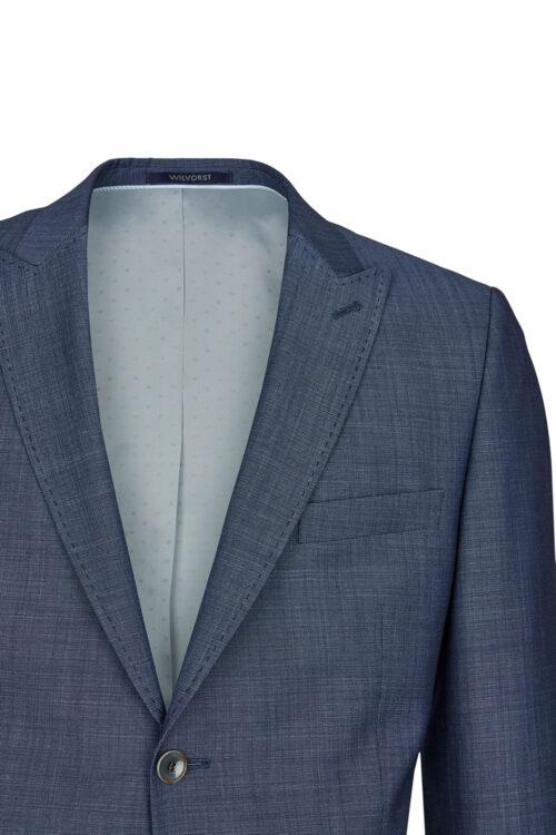 WILVORST borókakék esküvői férfi öltöny zakó részletek 401106-34 10372