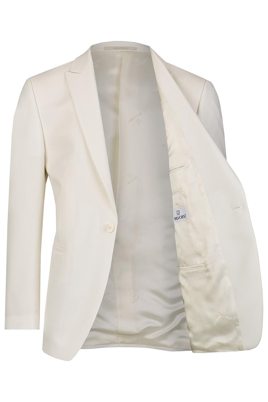 WILVORST fehér dinner jacket részletek 401824-1 Modell 17761-2