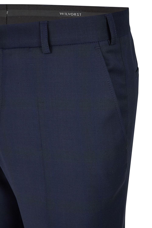 WILVORST slim fit kockás sötétkék szmoking nadrág részletek 404106-40 Modell 724