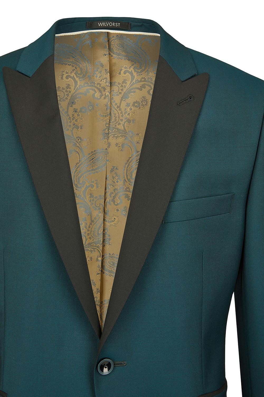 WILVORST slim fit zöld szmoking zakó részletek 471201-41 Modell 13561-2