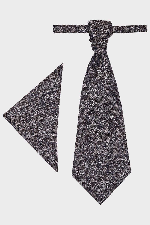 WILVORST szürkésbarna francia nyakkendő és díszzsebkendő 407118-65 0622
