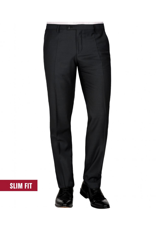 CLUB of GENTS slim fit fekete öltöny nadrág 50-102S1-90