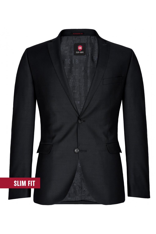 CLUB of GENTS slim fit fekete öltöny zakó 50-102S1-90