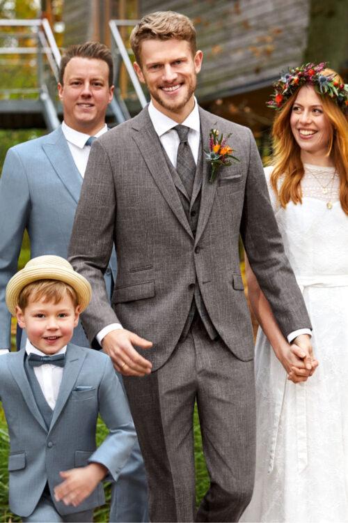WILVORST asztroszürke esküvői öltöny 401259-54