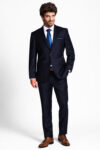 Loro Piana slim fit sötétkék férfi öltöny 20441