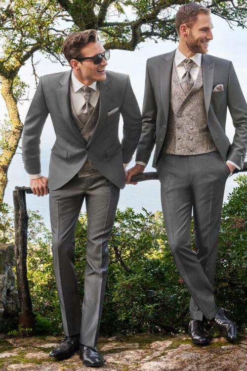 2021-es WILVORST szürke esküvői öltöny 451100-26
