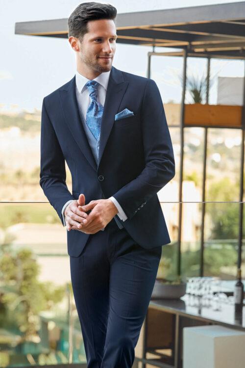 WILVORST oxford-kék vőlegény öltöny 701256-33