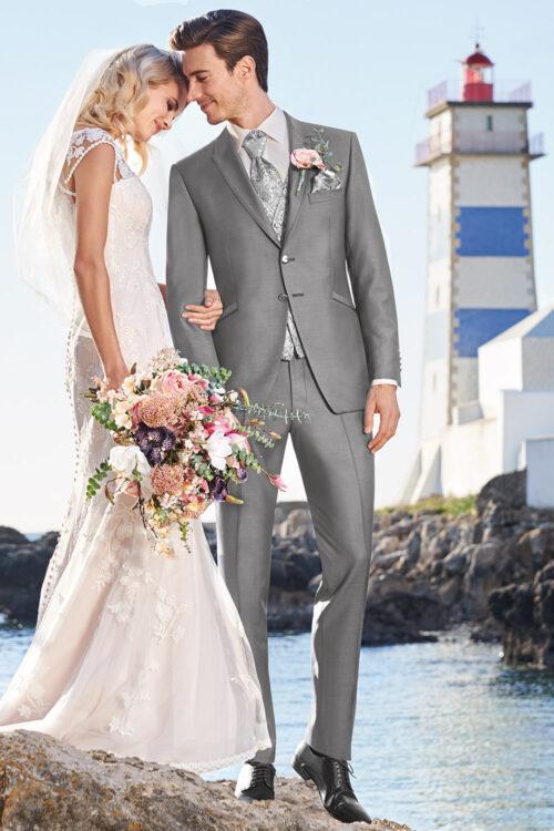 2021-es WILVORST szürke esküvői öltöny 701851-27